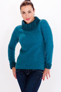 Two Tone Jumper in Possum Merino Silk KORU/K0471