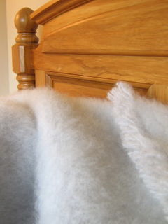 SILVER / NZ Mohair Throw Blanket Winter/Weight