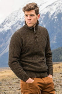 Noble Wilde NW1003 Javelin Zip Neck Jersey Possum Merino
