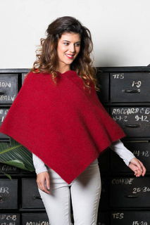 Moss Stitch Poncho in Possum Merino Silk KORU/K0757