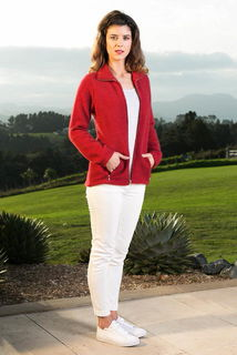 Textured Zip Jacket in Possum Merino Silk KORU/K0760