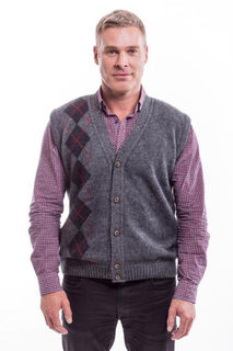 Argyle Vest in NZ Possum Merino Silk McDONALD/6228