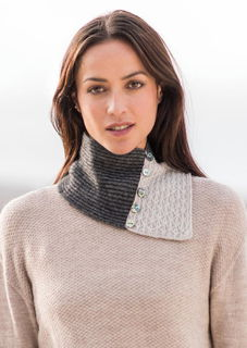 Lace Neck Warmer in Possum Merino Silk MERINOMINK/0324