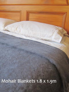 MOHAIR BLANKET ~ in 10 Colours  1.8x1.9m or 72 x 72