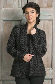 Oriental Jacket in Possum Merino Silk KORU/K0771
