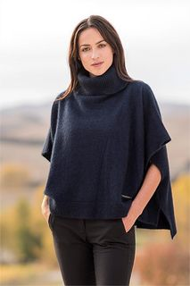 Lanarch Cape in Possum Merino Silk MERINOMINK/1595