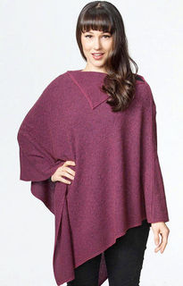 Long Poncho Possum Merino Possumdown/W459
