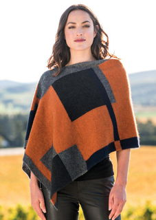 Empress Poncho in Possum Merino Silk MERINOMINK/1677