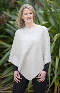 Poncho in NZ Possum Merino Silk style NB698/Native World