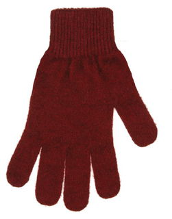 Plain Glove in NZ Possum Merino Silk NX100/Native World