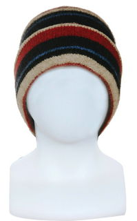 Striped Beanie Possum Merino Silk NX201/Native World