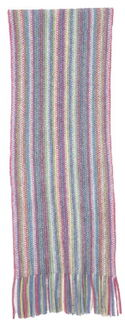 Multi Striped Scarf Possum Merino Silk NX378/Native World