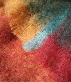 MASTERWEAVE WINDERMERE Plaid Mohair Throws * PICASO