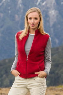 Gillet Vest in NZ Possum Merino style NW3101/NOBLE WILDE