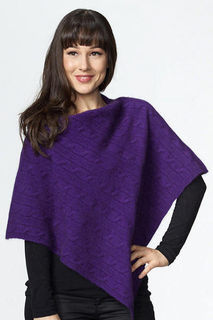 Cable Poncho Possum Merino Possumdown/W409