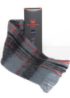 Alpaca Scarf ~ Grey/Black Check