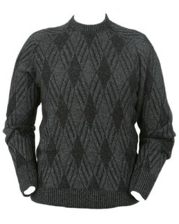 Crew Neck Diamond Jumper Possum Merino LOTHLORIAN/9802