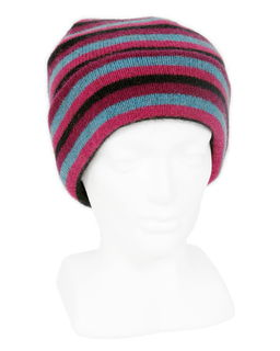 Multi Stripes Beanie in Possum Merino LOTHLORIAN/9952