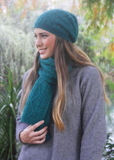 Opito Cable Beanie in Possum Merino LOTHLORIAN/9887