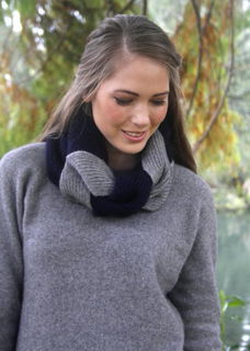 Plaited Cowl in Possum Merino LOTHLORIAN/9858
