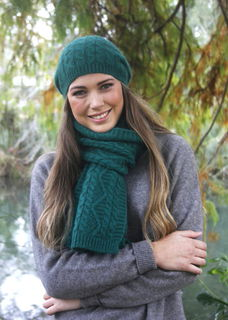 Opito Cable Scarf in Possum Merino LOTHLORIAN/9888