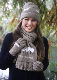 Sheep Scarf in Possum Merino LOTHLORIAN/9917