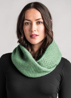Textured Loop Scarf in Possum Merino Silk MERINOMINK/0319
