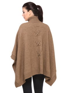 Laced Cape in NZ Possum Merino Silk KORU/K0794