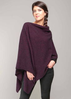 Two Way Poncho in Possum Merino Silk KORU/K0798