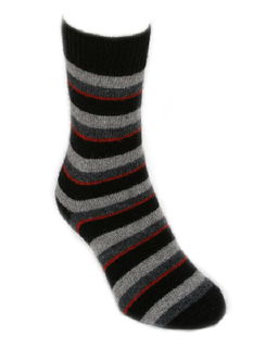 Accent Stripe Socks NZ Possum Merino LOTHLORIAN/9895