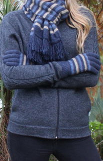Multi Stripe Glove Possum Merino LOTHLORIAN/9950