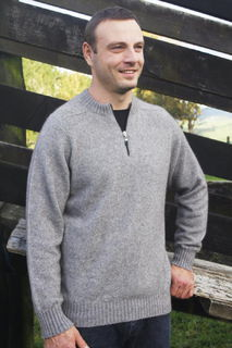 Men's Crew Neck 1/4 Zip Jumper Possum Merino LOTHLORIAN/9813