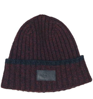 Marl Beanie / Leather Patch Possum Merino Silk NX402/Native World