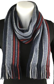 Collage Stripe Scarf Possum Merino Silk NX403/Native World