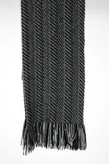 Herringbone Scarf Possum Merino Silk NX312/Native World