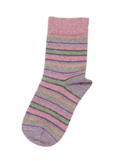 Kid's Sock Stripe in Possum Merino NX739/Native World