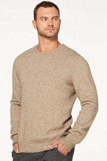 Crew Neck Jumper in Possum Merino Silk McDONALD/6603