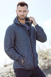 Casual Hoodie in Possum Merino Silk McDONALD/6627