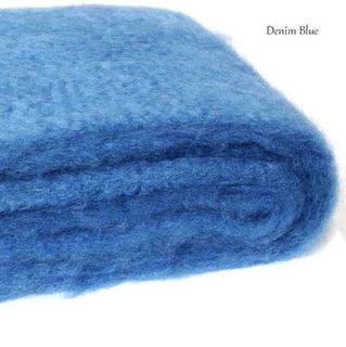 DENIM BLUE / NZ Mohair Throw Blanket Winter/Weight