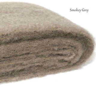 SMOKEY GREY / NZ Mohair Throw Blanket Winter/Weight