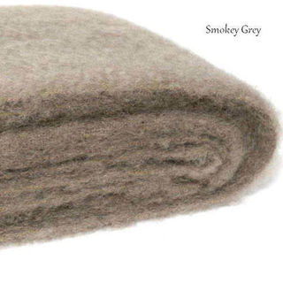 SMOKEY GREY/ NZ Mohair Couch or Chair Throw Rug Winter/Weight