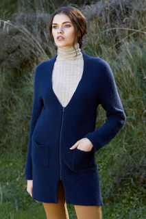 Longline Zip Cardigan in Possum Merino Silk McDonald/5029