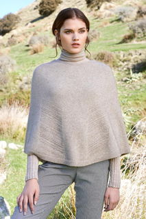 Lace Chevron Poncho in Possum Merino Silk McDonald/5021