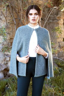 Textured Cape in Possum Merino Silk McDonald/5031