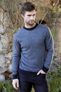 Patch Sweater in Possum Merino Silk McDonald/6614