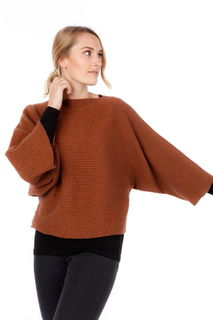Batwing Oversize Sweater Possum Merino Silk NB819/Nativeworld