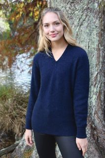 V Neck Jumper in Possum Merino LOTHLORIAN/9935