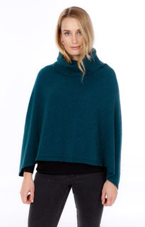 Polo Neck Poncho Possum Merino Silk NB817/Naiveworld