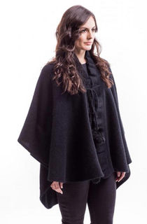 Ruffle Cape in Possum Merino Silk McDONALD/656
