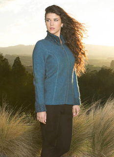 Two Tone Jacket in Possum Merino Silk KORU/K0476